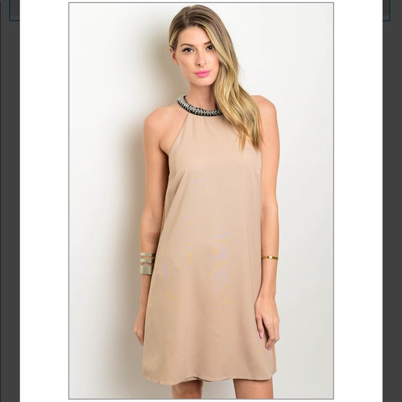 Dresses Tonight Only 5 Neutral Embellished Shift Poshmark